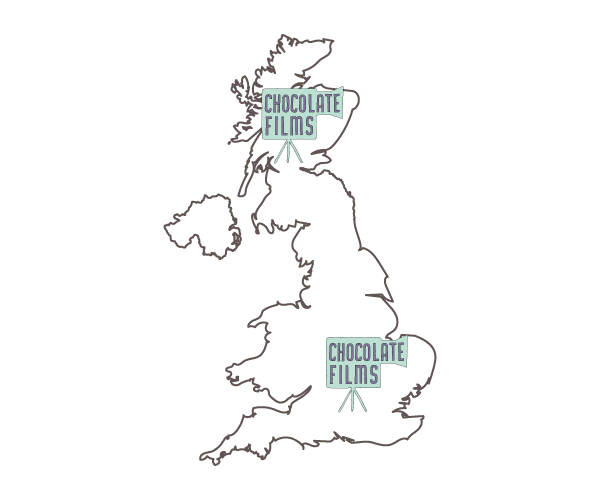 Chocolate Films UK map